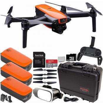 Autel Robotics EVO Foldable Quadcopter with 3-Axis Gimbal Rugged Kit Virtual Reality Starters Bundle