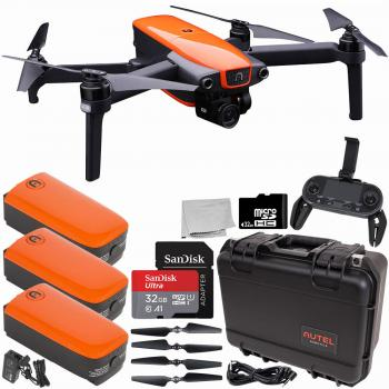 Autel Robotics EVO Foldable Quadcopter with 3-Axis Gimbal Rugged Kit Starters Bundle