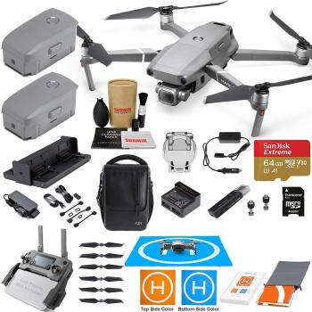 DJI Mavic 2 Pro Drone Quadcopter and Fly More Kit Combo with Must Have  Accessories