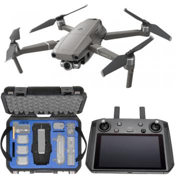 DJI Mavic 2 Zoom Foldable Quadcopter with Smart Controller & Go Professional Hard-Shell Case Bundle