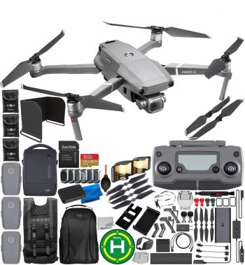 "DJI Mavic 2 Pro Drone Quadcopter with Hasselblad Camera 1"" CMOS Sensor with FLY MORE KIT 64GB Ultimate Everything You Need Bundle with Promotional 4-Battery Charging Hub"