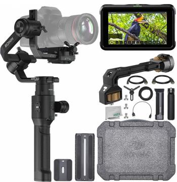 DJI Ronin-S - CP.ZM.00000103.02 with PolarPro Monitor Mount and Essent