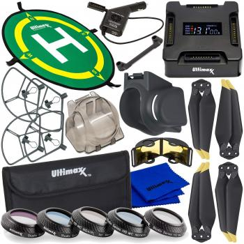 Ultimaxx Must-Have Accessory Bundle for Use with DJI Mavic PRO or PRO Platinum Foldable Quadcopters