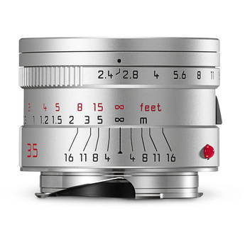 Leica Summarit-M 35mm f/2.4 ASPH Lens (Silver)