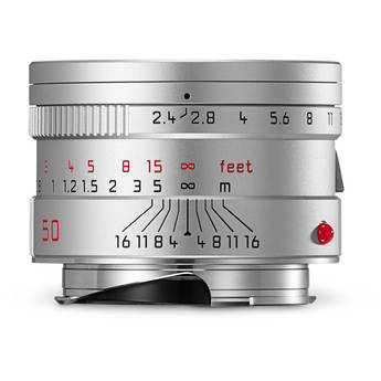 Leica Summarit-M 50mm f/2.4 Lens (Silver)