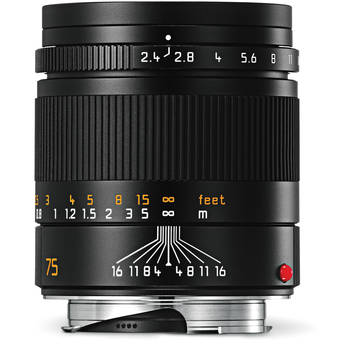 Leica Summarit-M 75mm f/2.4 Lens (Black)