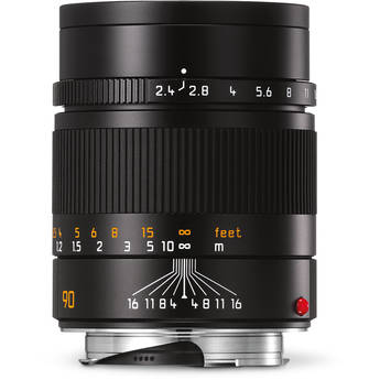 Leica Summarit-M 90mm f/2.4 Lens (Black)