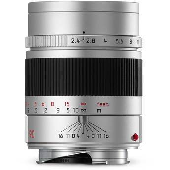 Leica Summarit-M 90mm f/2.4 Lens (Silver)