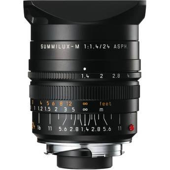 Leica 24mm f/1.4 Summilux-M Aspherical Manual Focus Lens - Black