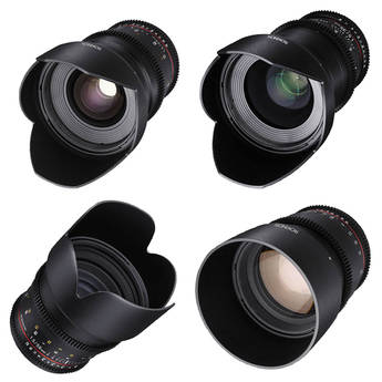Rokinon 24 35 50 85mm T1.5 Cine DS Lens Kit for Canon EF Mount