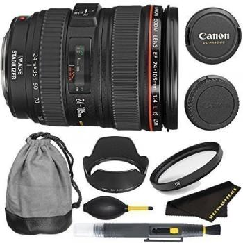 Canon EF 24-105mm f/4L IS USM Lens Bundle