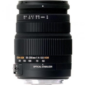 Sigma 50-200mm f/4-5.6 DC OS HSM High Performance Telephoto Zoom For Pentax Cameras