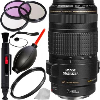 Canon EF 70-300mm f/4-5.6 IS USM Lens with Accessory Bundle