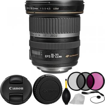 Canon EF-S 10-22mm f/3.5-4.5 USM Lens with Accessory Kit