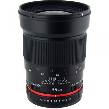 Rokinon 35mm f/1.4 AS UMC Lens for Micro Four Thirds Mount