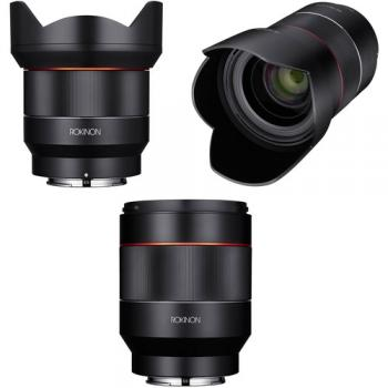 Rokinon AF 14mm 35mm and 50mm Three Lens Kit for Sony E