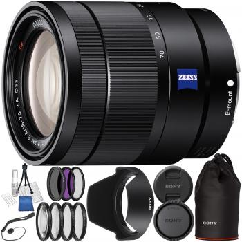 Sony Vario-Tessar T E 16-70mm f/4 ZA OSS Lens with 9PC Accessory Bundle