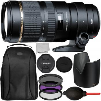 Tamron SP 70-200mm f/2.8 Di VC USD Zoom Lens for Canon with 6PC Accessory Bundle