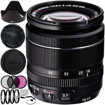 Fujifilm XF 18-55mm f/2.8-4 R LM OIS Zoom Lens 9PC Accessory Bundle