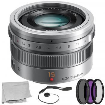 Panasonic LUMIX G Leica DG Summilux 15mm f/1.7 ASPH. Lens (Silver) wit
