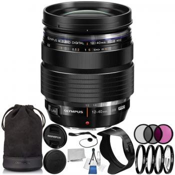 Olympus M. Zuiko Digital ED 12-40mm f/2.8 PRO Lens with 10PC Accessory Bundle