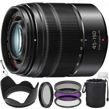 Panasonic Lumix G Vario 45-150mm f/4-5.6 ASPH. MEGA O.I.S. Lens Bundle