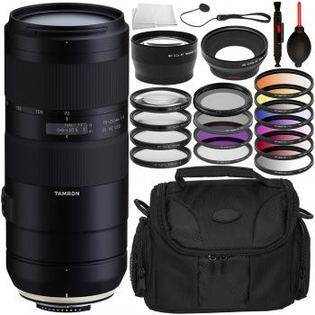 Tamron 70-210mm f/4 Di VC USD Lens for Nikon F with Accessory Bundle