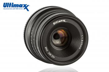 Ultimaxx 25mm f/1.8 Manual Lens for Fuji X Mount