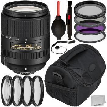 Nikon AF-S DX NIKKOR 18-300mm f/3.5-6.3G ED VR Lens with Accessory Bun