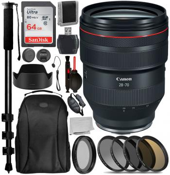 Canon RF 28-70mm f/2L USM Lens with Accessory Bundle