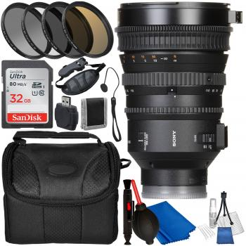 Sony E PZ 18-110mm f/4 G OSS Lens with Accessory Bundle