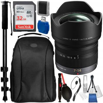 Panasonic 7-14mm f/4.0 ASPH. Lens with Accessory Bundle