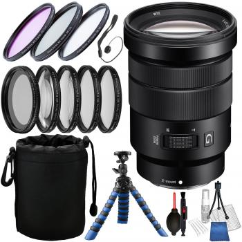 Sony E PZ 18-105mm f/4 G OSS Lens with Accessory Bundle
