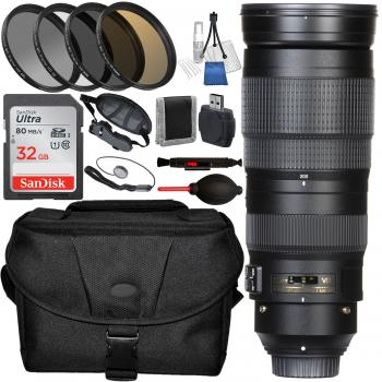 Nikon AF-S Nikkor 200-500mm F/5.6E ED VR Lens with Accessory Bundle