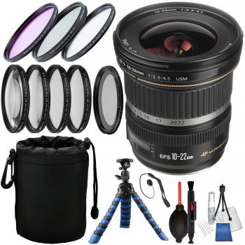 Canon EF-S 10-22mm f/3.5-4.5 USM Lens with Accessory Bundle