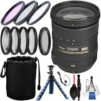 Nikon AF-S DX NIKKOR 18-200mm f/3.5-5.6G ED VR II Lens and Accessory B