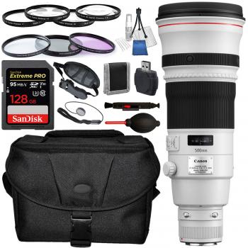 Canon EF 500mm f/4L IS II USM Lens with Accessory Bundle