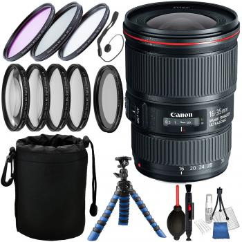 Canon EF 16-35mm f/4L IS USM Lens with Accessory Bundle