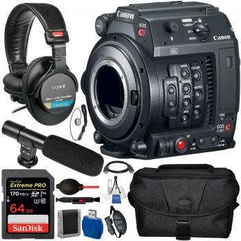 Canon EOS C200B Cinema Camera (Body Only) (EF-Mount) and Accessory Bundle