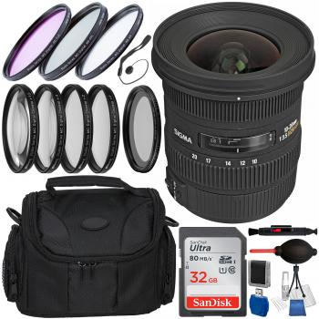 Sigma 10-20mm f/3.5 EX DC HSM Lens for Canon EF with Accessory Bundle
