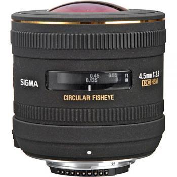 Sigma�4.5mm f/2.8 EX DC HSM Circular Fisheye Lens for Nikon F