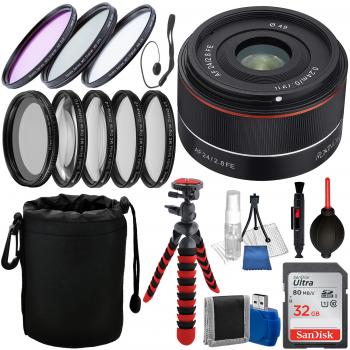 Rokinon AF 24mm f/2.8 FE Lens for Sony E - IO24AF-E and Accessory Bundle