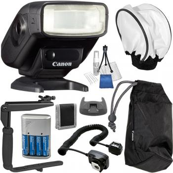 Canon Speedlite 270EX-II Flash - 5247B002 Essential Accessory Bundle
