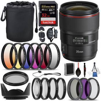 Canon EF 35mm f/1.4L II USM Lens - 9523B002 with Essential Bundle