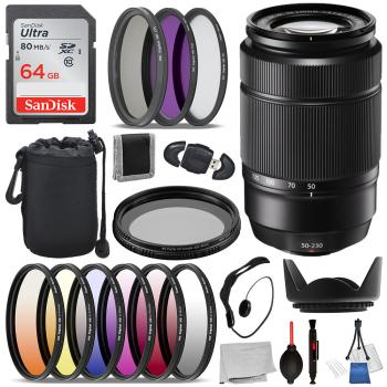 Fujifilm XC 50-230mm f/4.5-6.7 OIS II Lens - 16460771 with Essential Bundle