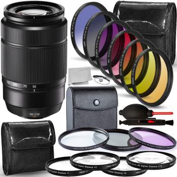 FUJIFILM XC 50-230mm f/4.5-6.7 OIS II Lens (Black) - 16460771 with Accessory Bundle