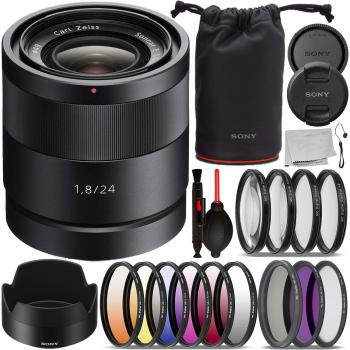 Sony Sonnar T E 24mm f/1.8 ZA Lens - SEL24F18Z with Essential Accessor