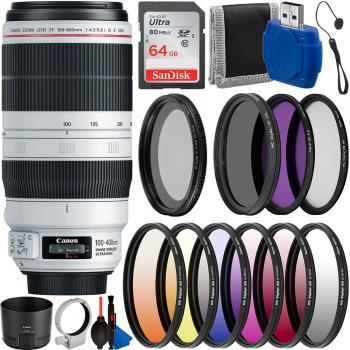 Canon EF 100-400mm f/4.5-5.6L IS II USM Lens - 9524B002 with Must Have