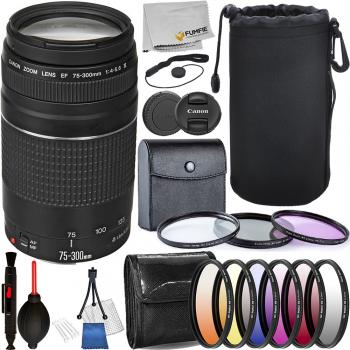 Canon EF 75-300mm f/4-5.6 III Lens - 6473A003 with Deluxe Accessory Bu