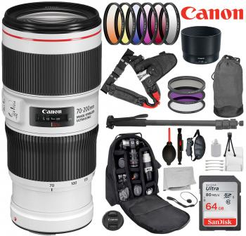Canon EF 70-200mm f/4L IS II USM Lens - 2309C002 with 18pc Advanced Le